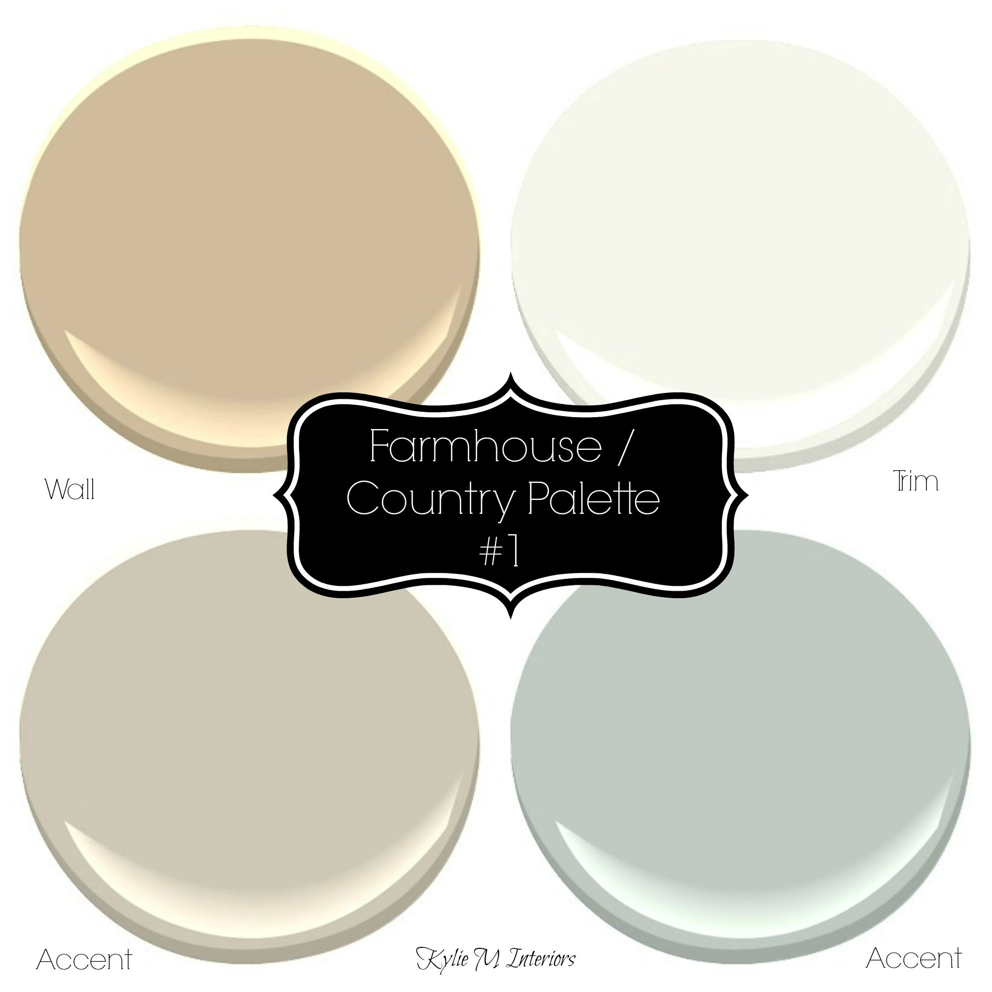Sherwin Williams 3 Neutral Farmhouse Country Paint Palettes Rustic Paint Colors Country Paint Colors Farmhouse Paint