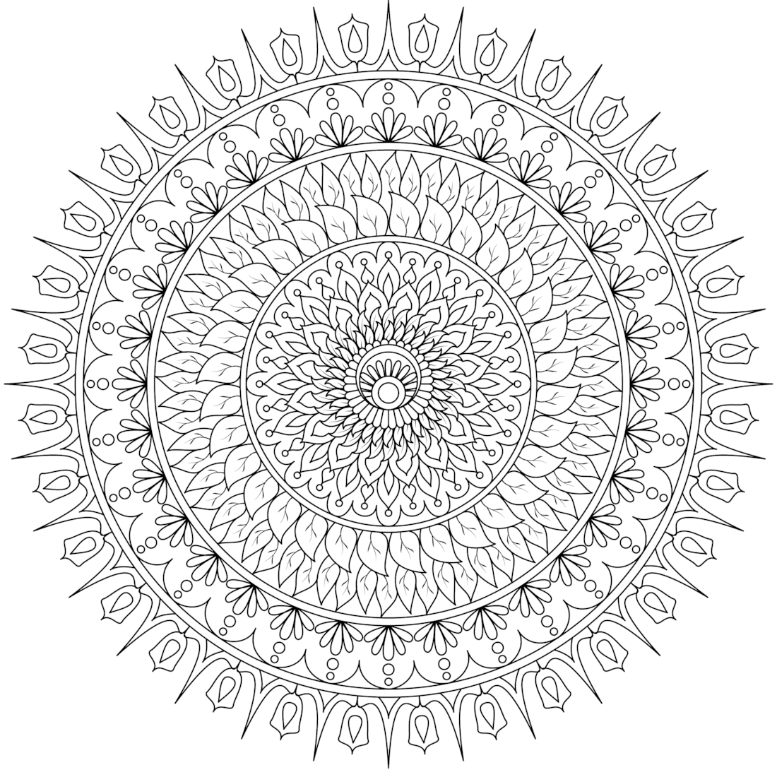 Pin by monday mandala on printable mandalas to color free pinterest coloriage coloriage - Colorier mandala ...