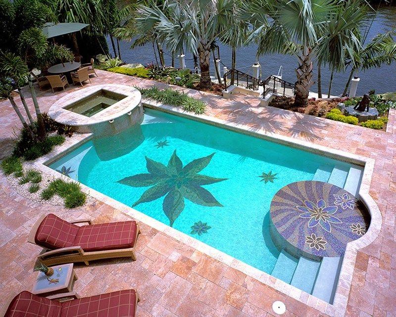 Attirant Swimming Pool Mosaic Swimming Pool Botanical Visions Boca Raton, FL