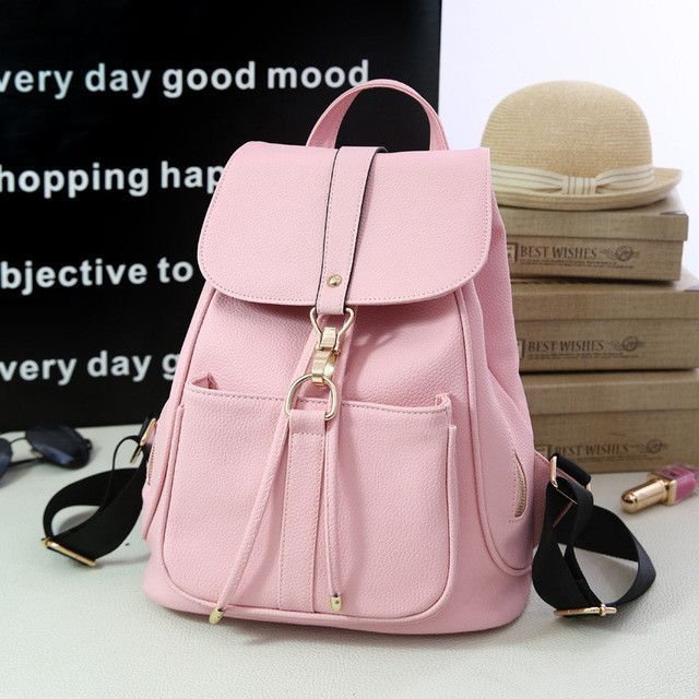 86ed3e267a 2017 Hot New Stylish Women s Backpack Korean Fashion Female Backpacks  College Student Teenagers Rucksack Back Pack School Bags