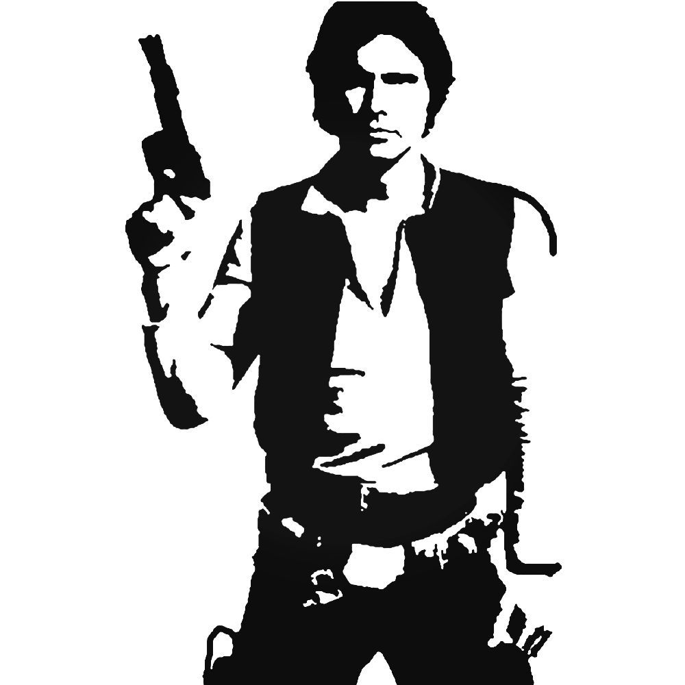 Star Wars Han Solo 97 Decal Sticker Ballzbeatz Com
