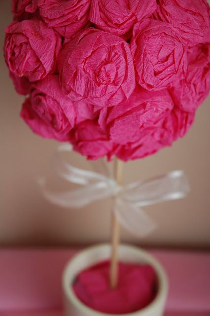 Knocking it off how to crepe paper rose pomander ball and how to crepe paper rose pomander ball and topiary mightylinksfo