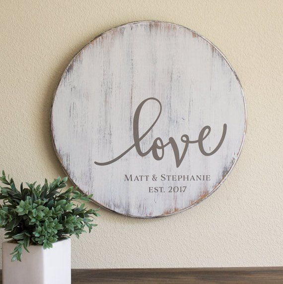 Personalized Wedding Gift Rustic Love Sign Wooden Love Sign Wedding Anniversary Gift Rustic Personalized Signs Gift For Couple Love Wood Sign Rustic Wedding Gifts Farmhouse Wall Decor