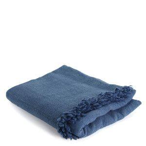 Light Indigo Throw Blanket