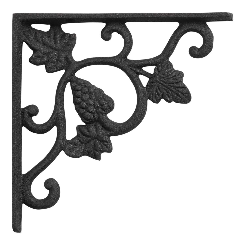 Grapevine Cast Iron Shelf Bracket