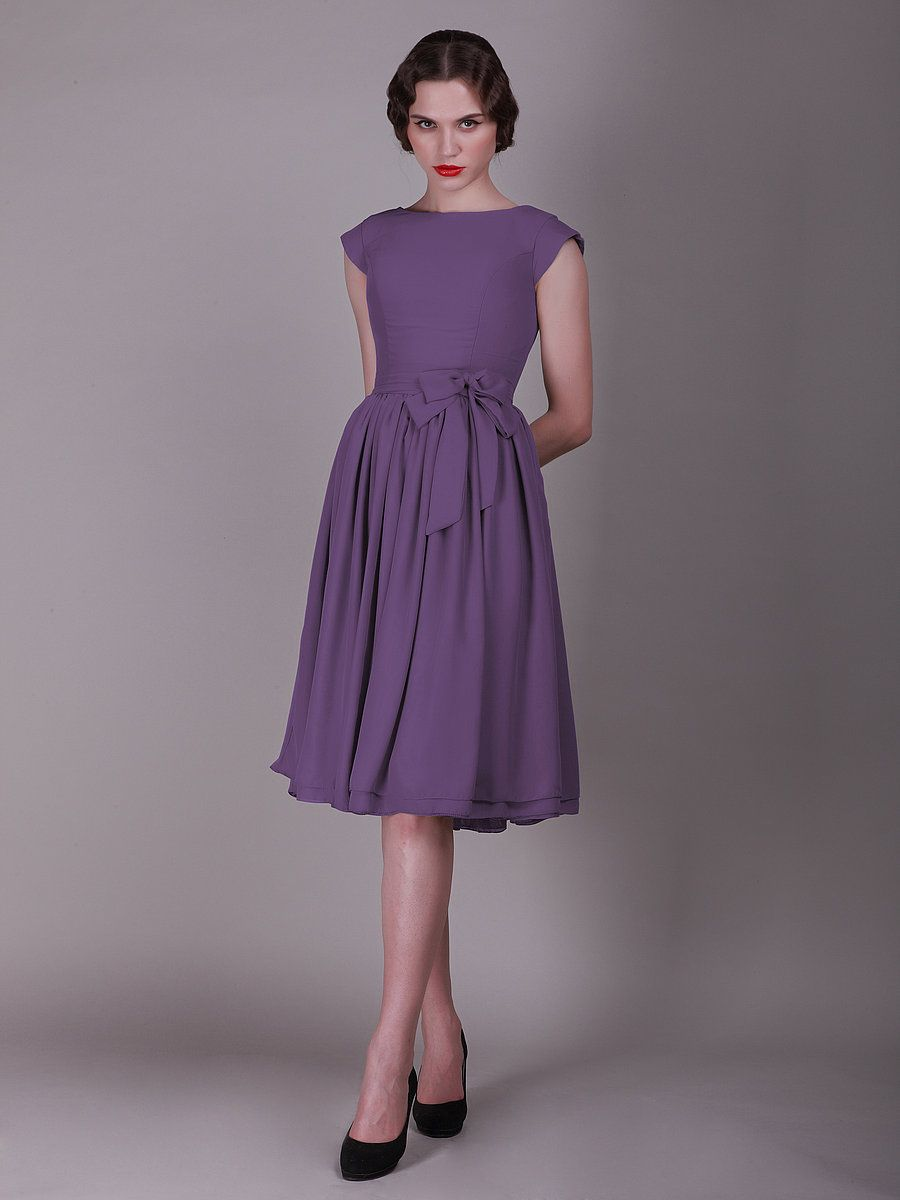 For Her and For Him vintage style bridesmaid dress - Purple Wedding ...