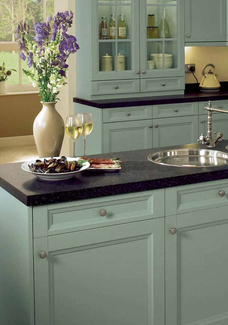 Arundle duck egg painted kitchen cabinets kitchen for Duck egg blue kitchen island