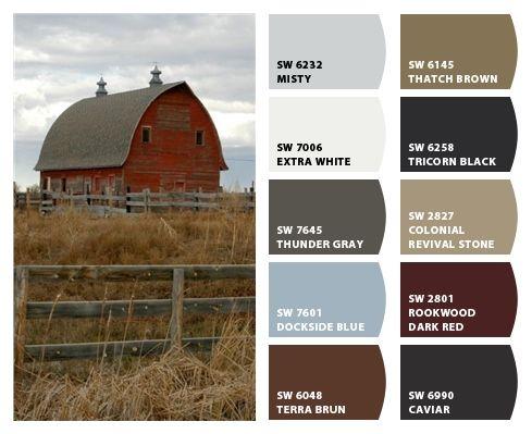 Historic Farm Color Palette Inspiration For Exterior Home Color Scheme Stone Accents And