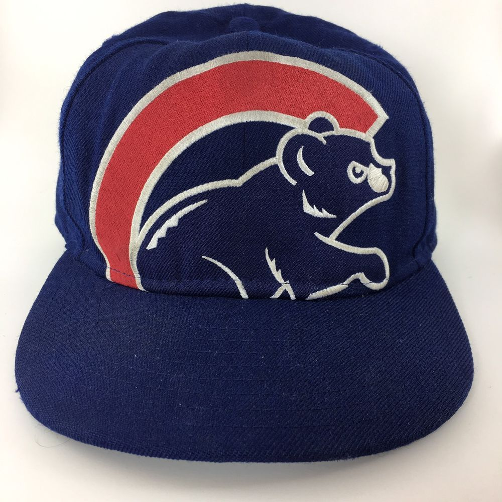 f80e0174fd6 MLB Chicago Cubs 59Fifty New Era Wool Baseball Hat Cap Size 7 3 8 High  Profile