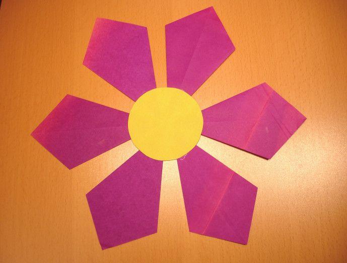 Blumen falten - Kinderspiele-Weltde Basteln Mit Kindern - blumen basteln