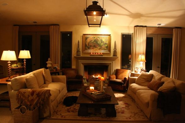 Our Wine Country Living Room., Night Time In The Wine