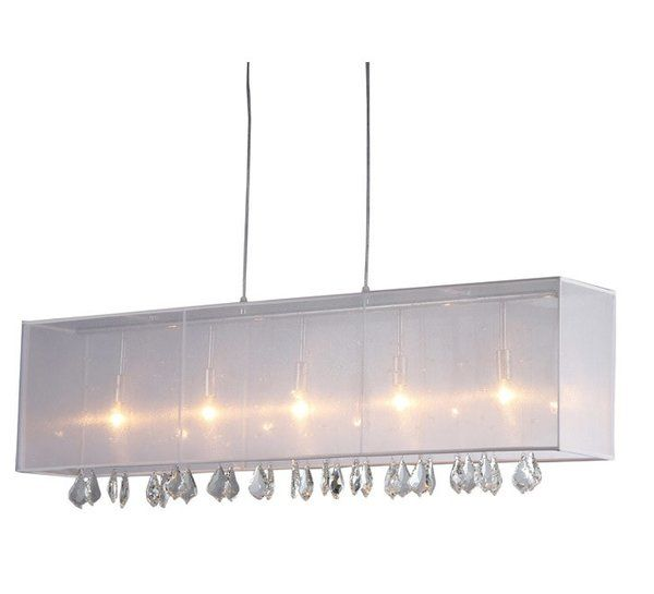 Add Instant Elegance To Your Home With This Crystal Chandelier This Dynamic Lighting Element Fe Warehouse Of Tiffany Bar Chandelier Dining Room Light Fixtures