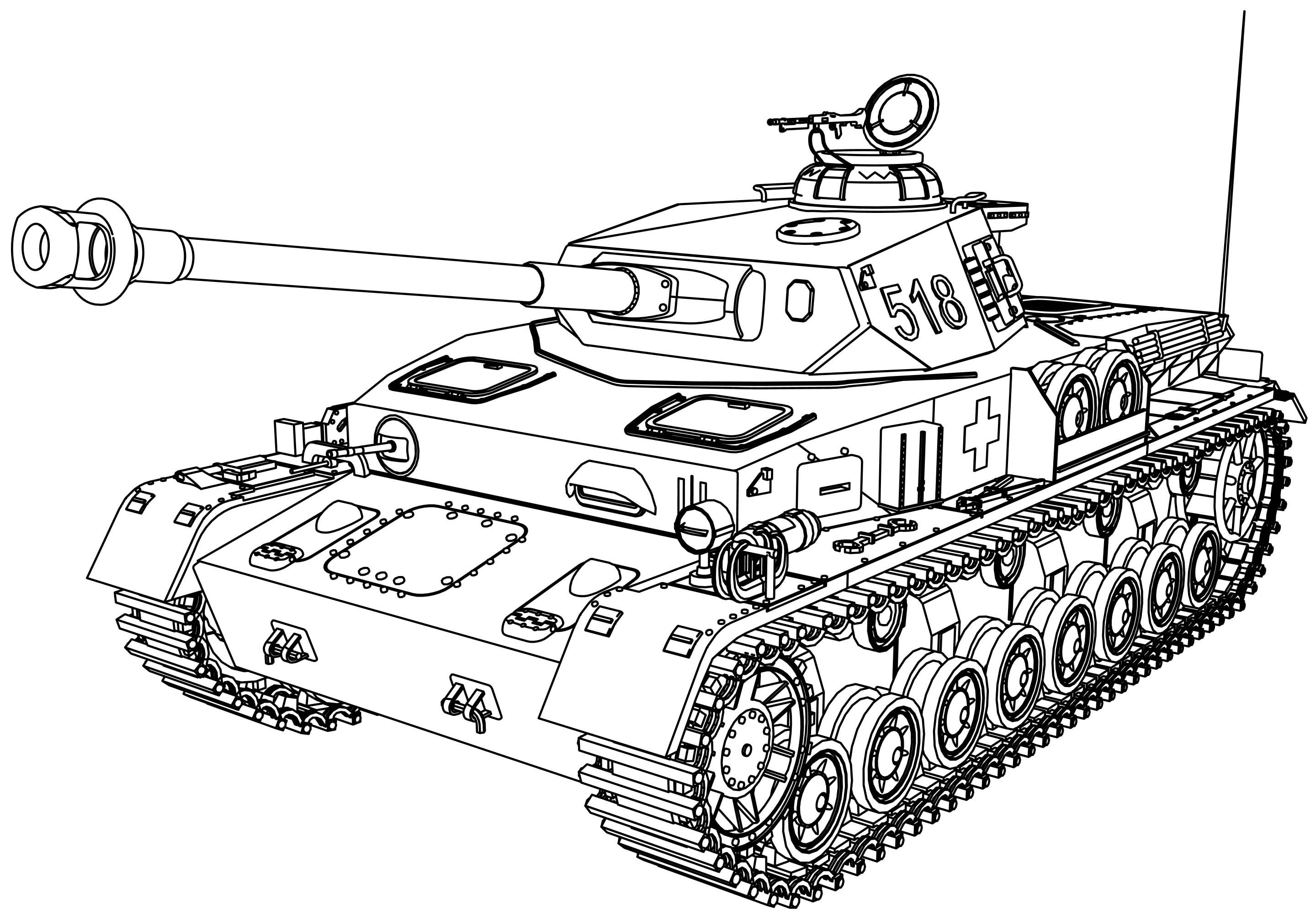 Cool Panzer Tank Coloring Page In