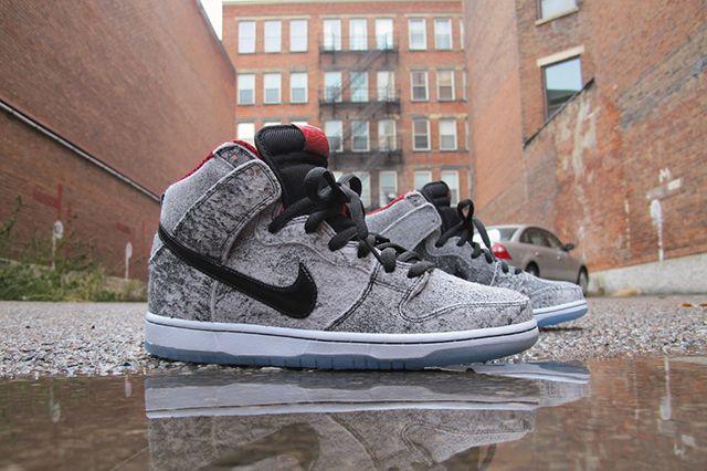 on sale a2ef8 7734d Still boring, but still nice  )  NIKE  SB  DUNK HIGH (SALT STAIN)  sneakers