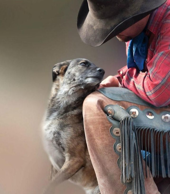 The bond between a cowboy and his dog.