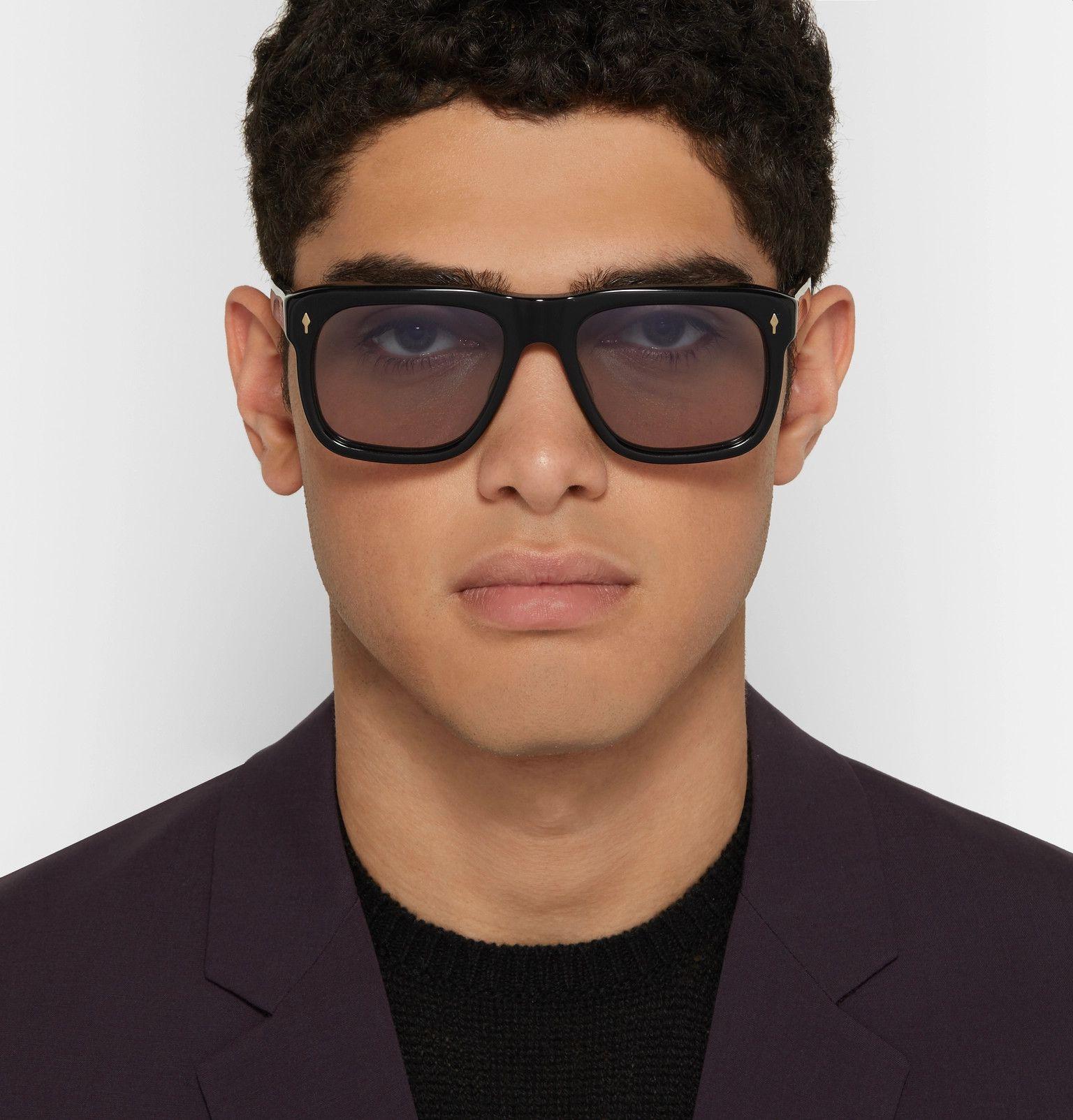Jacques Marie Mage Yves Square Frame Acetate Sunglasses In Black Modesens Men Sunglasses Fashion Square Frames Sunglasses