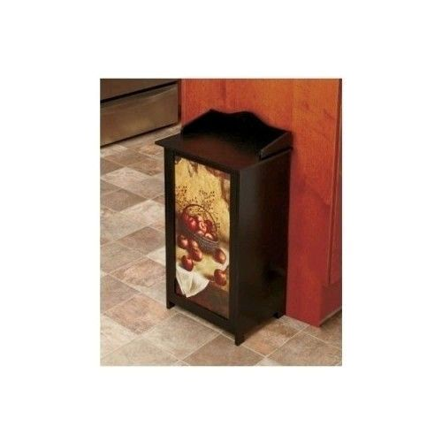 Wooden Kitchen Trash Can ,Laundry  Hamper Bin Pail Bucket Wood, Storage Hide Bin