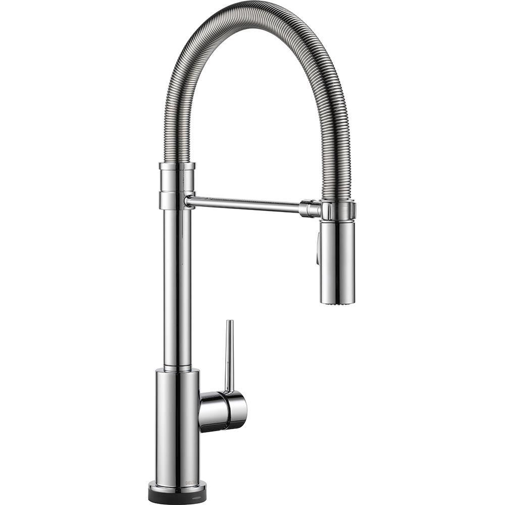 delta trinsic pro single handle pull down sprayer kitchen faucet rh pinterest com