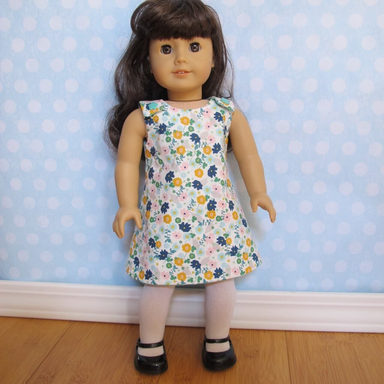 Reversible A Line Dress pattern for 18 inch doll Fits American Girl