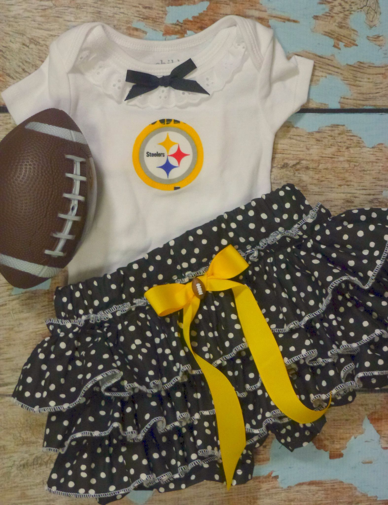 Girls Pittsburgh Steelers Cheerleader Outfit 8c44875d3