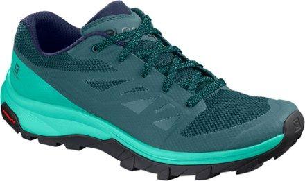 salomon outline low gtx hiking shoes - women's world