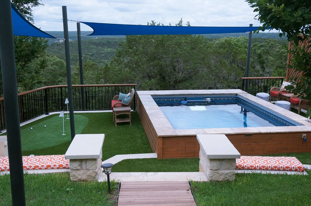 Endless Pool With Putting Green Endless Pool Endless Pool Backyard Backyard Pool