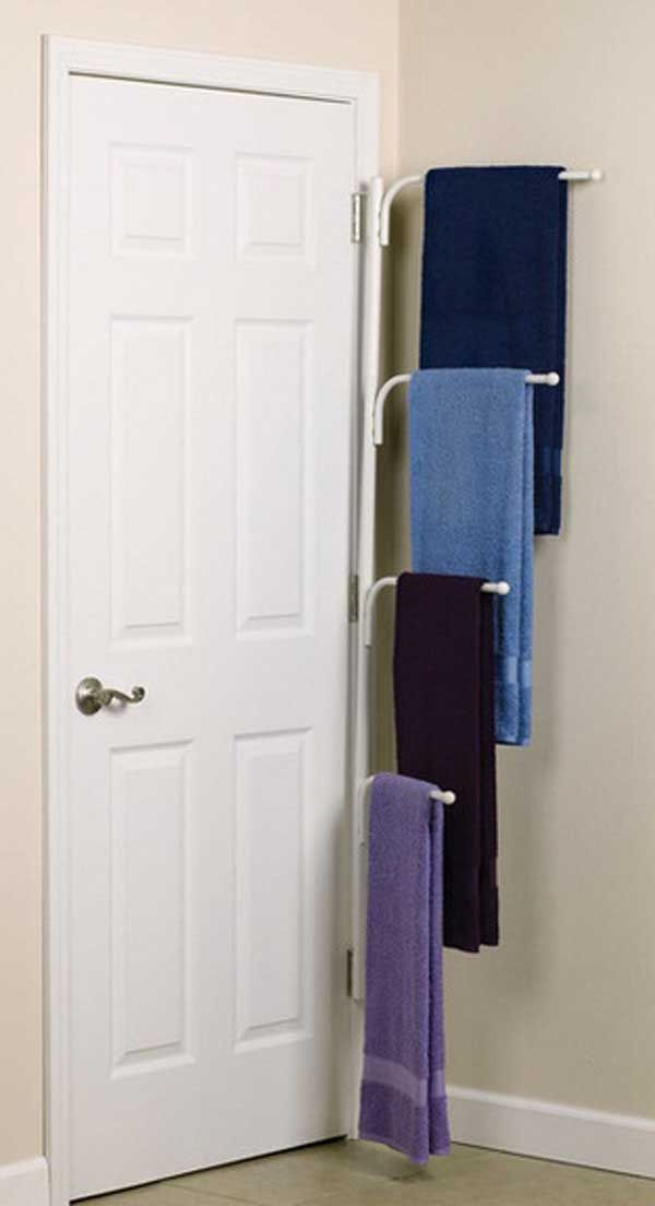 Of The Most Genius DIY Projects To Keep Bath Towels Organized - Lavender bath towels for small bathroom ideas