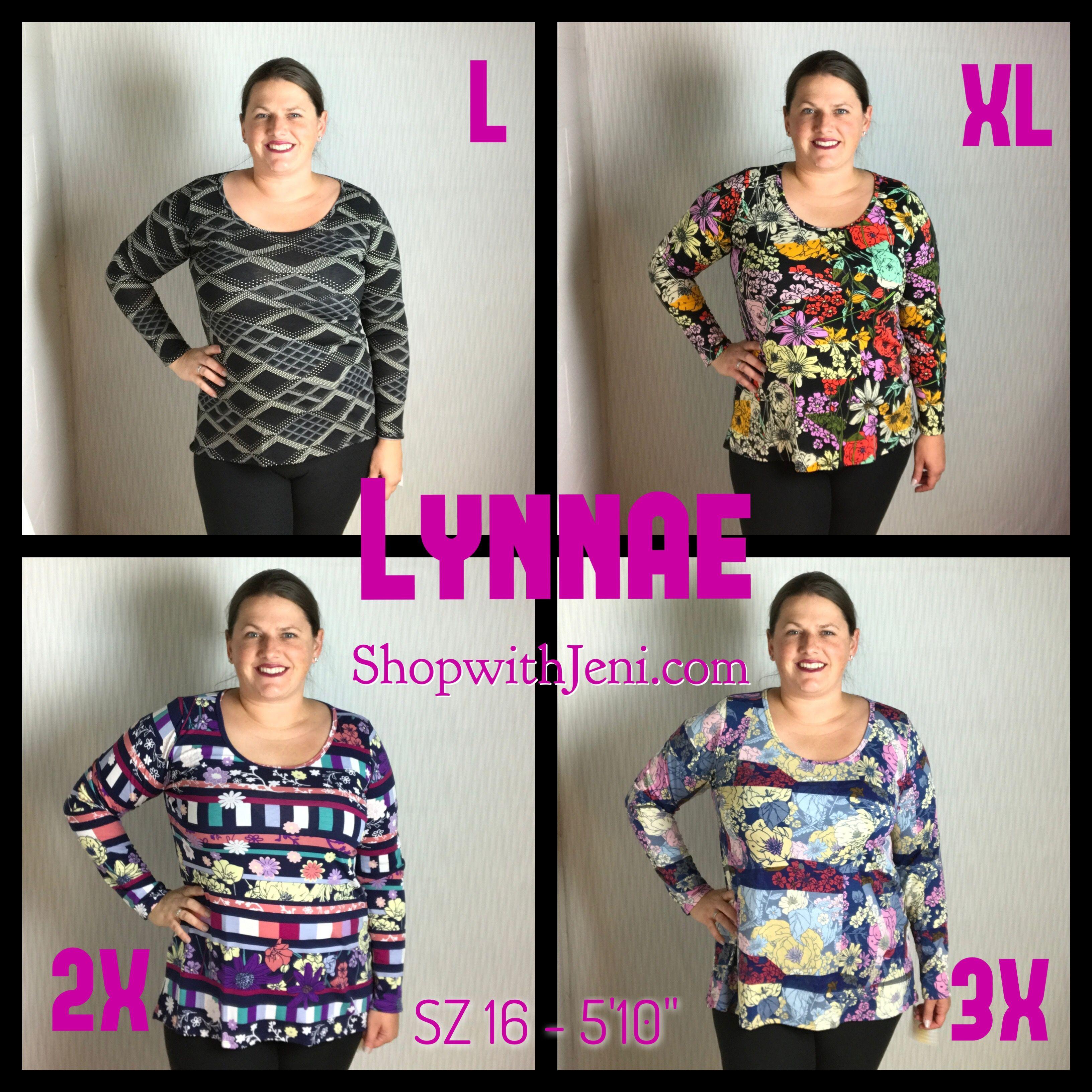 7a02bbbff4fd32 LuLaRoe Lynnae new style sizing! Cute long sleeve shirt womens clothing
