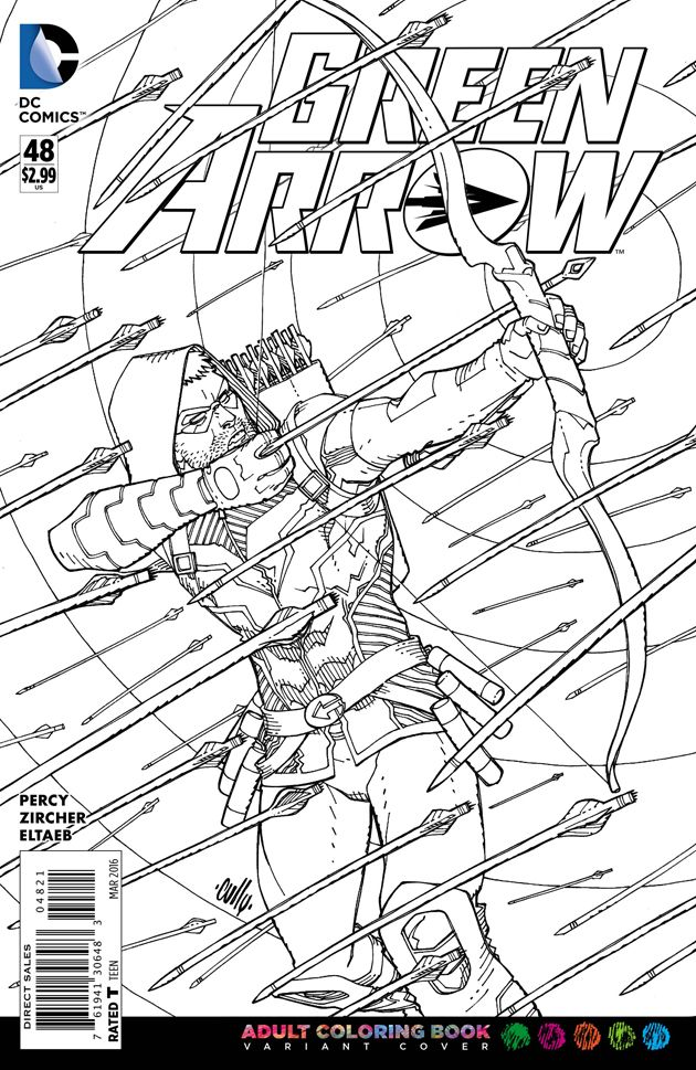 Adult Coloring Book Variant Covers, DC Comics | coloring pages ...