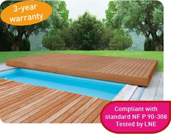 Mobile Deck Walu Deck Offers The Best Of Protection Whilst Optimising The Space Available The Pool Can B Pool Houses Swimming Pool Lights Backyard Water Fun