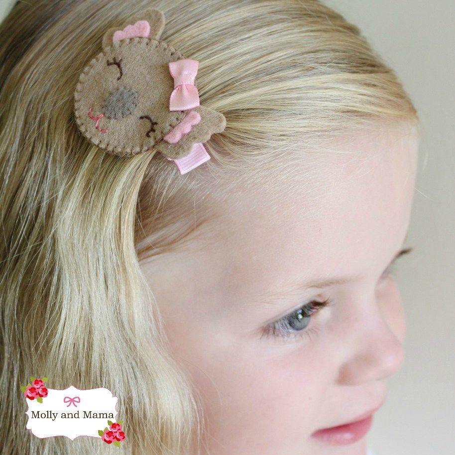 Make a Koala Hair Clip  FlowersBowsHeadbandsBarretts  Pinterest