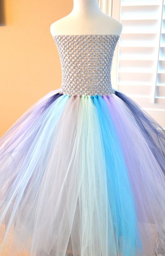 kids girls under the sea Custom Made Multi Color Basic Tutu Dress birthday special occasion wedding photos All Child size by 1583Designs,