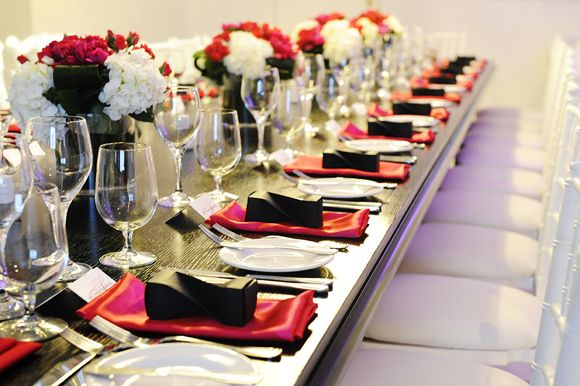 Reception Black White Blush Table Decor Centerpieces