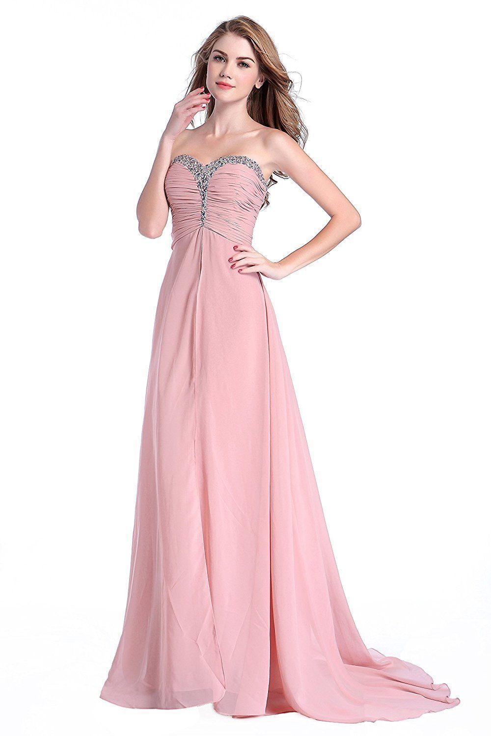 Awesome Bridesmaid Dress for Women Beaded Rhinestone Formal Prom ...