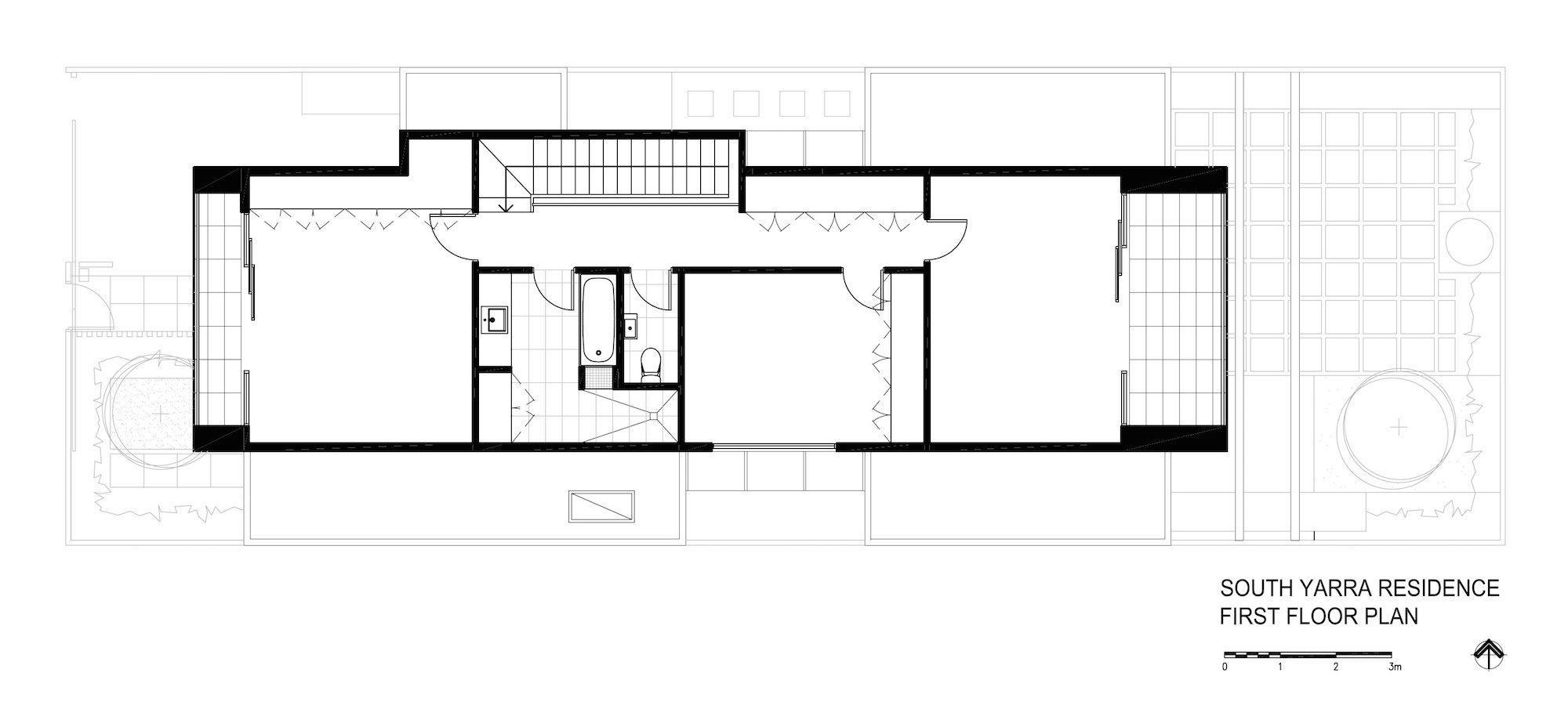 planos de casas modernas rectangulares