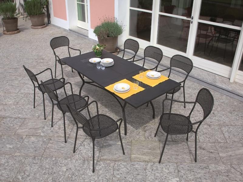Contemporary Metal Garden Dining Table For You Garden Or Patio