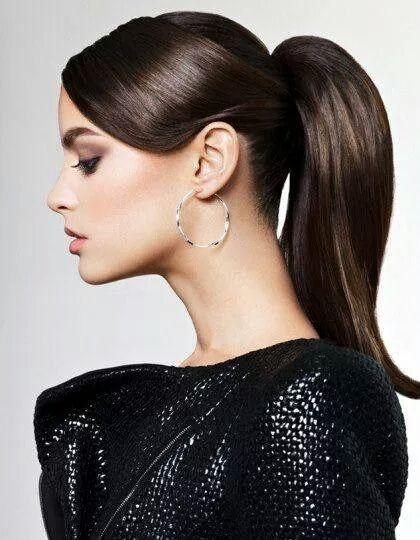 Varios peinados peinados cola alta Imagen de estilo de color de pelo - Coleta alta #peinados #belleza #moda #hair #fashion #style ...