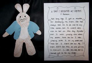 Peter Rabbit Craft and Writing Activity - Students write about a time they disobeyed their parents.
