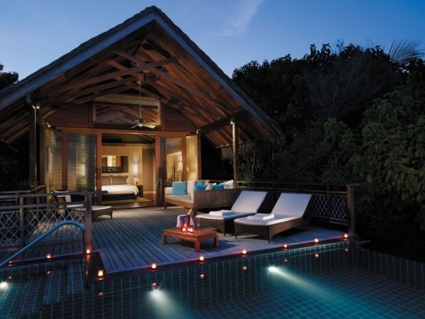 Indirekte Beleuchtung Ferienhaus Tropisch Auf Den Malediven