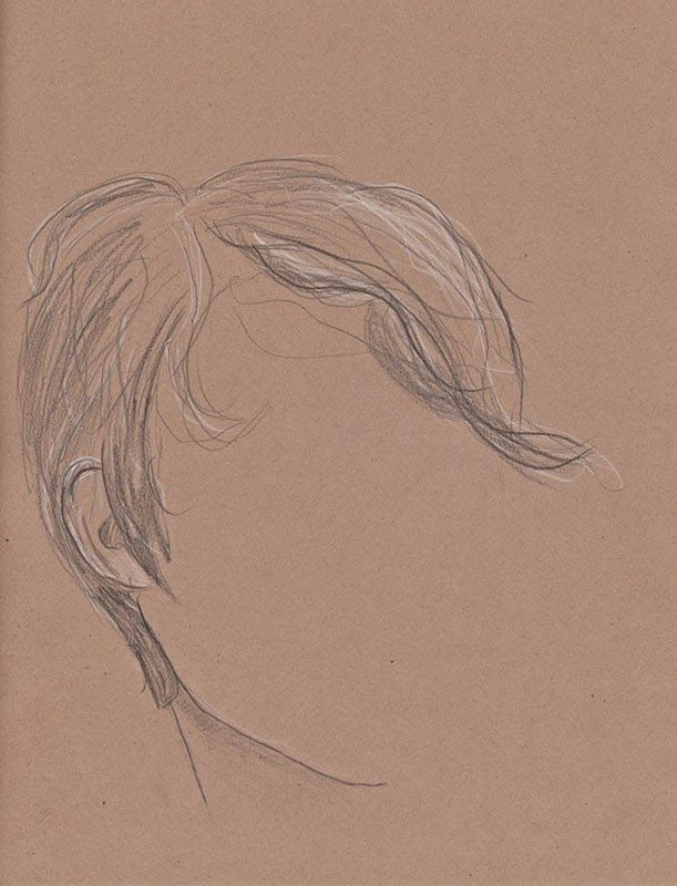 Living with a new pixie the beginners guide color pencil sketch on brown paper