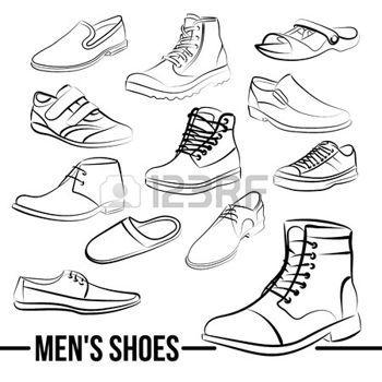 minimalist style: Pintado conjunto de zapatos de los hombres del ...