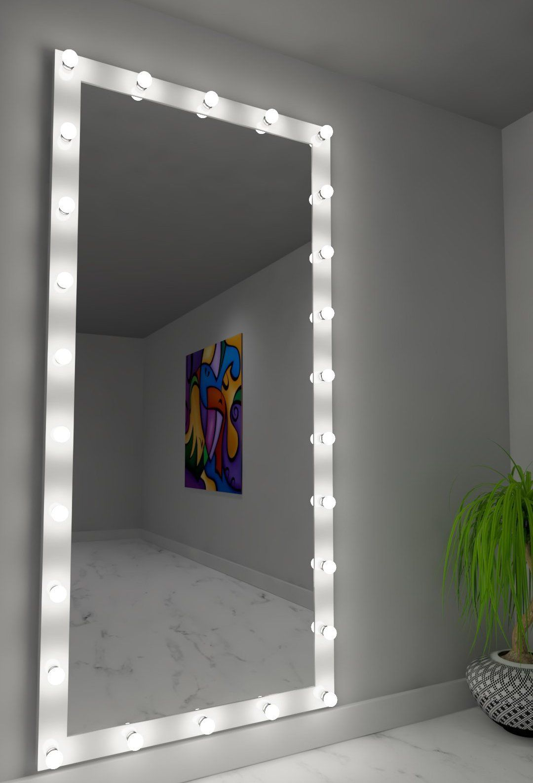 Dressing Hollywood Mirror White 85 x 40 in | Beautiful ...