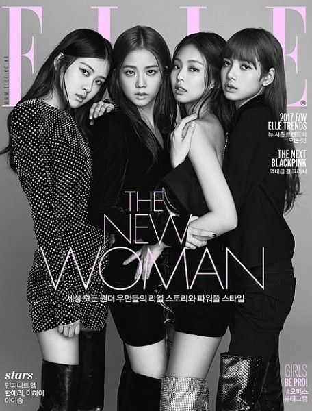 BLack Pink Becomes The First Kpop Group To Cover Elle Korea Magazine