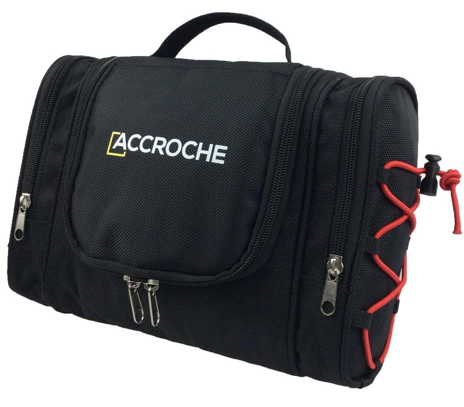 7b60c0a97021 ACCROCHE Bret Hanging Travel Toiletry Bag for Men and Women, Flat ...