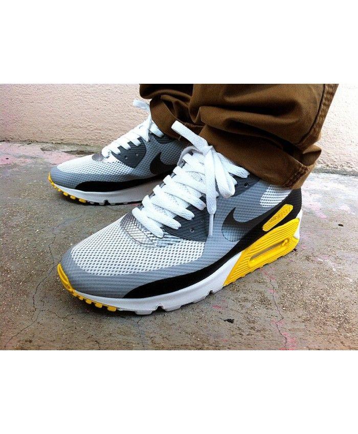 nike air max 90 mens black gray yellow Nike Air Max 90 Hyperfuse ... 085d1131e