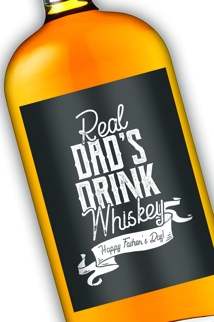 Have a dad who loves whiskey get him a label to