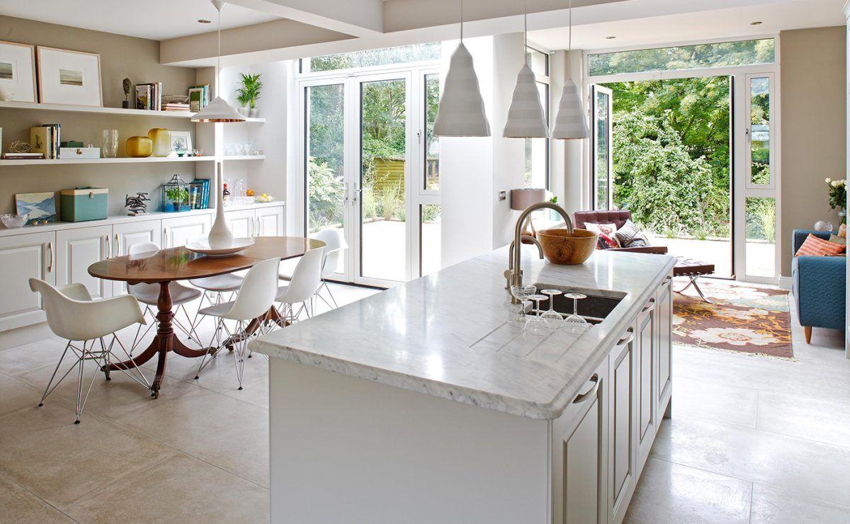 Connection To North Facing Garden Kitchen Design Decor Interior