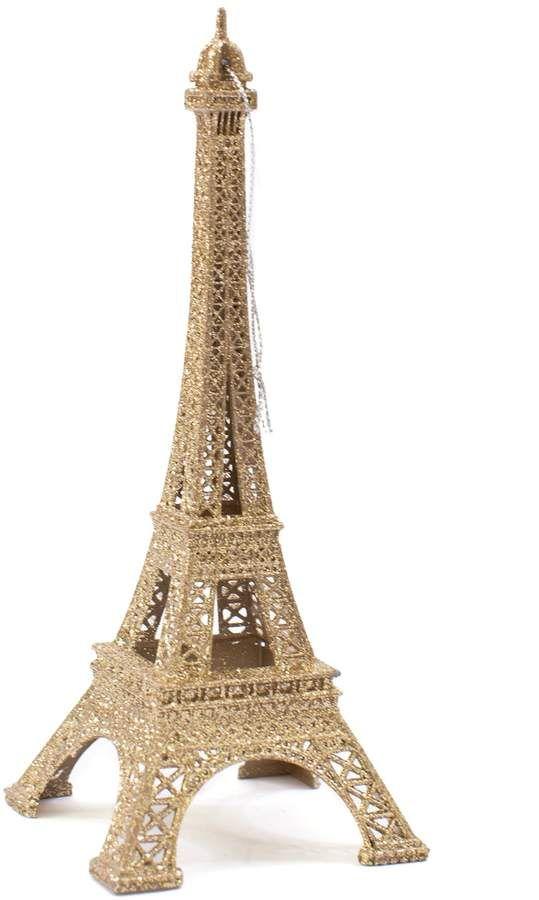 Lauren Conrad Gold Finish Eiffel Tower Paris Christmas Ornament