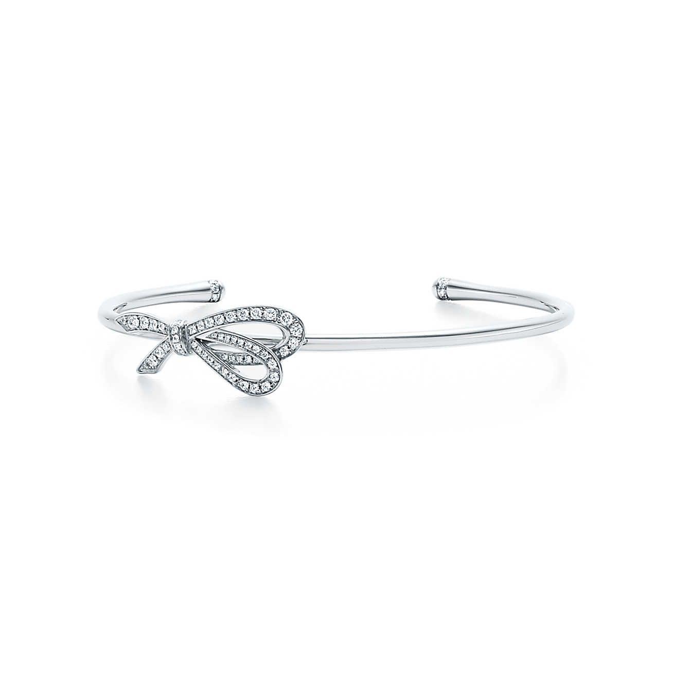 86b1a740909a6 Tiffany Bow:Cuff   wishful thinking   Tiffany bracelets, Diamond ...