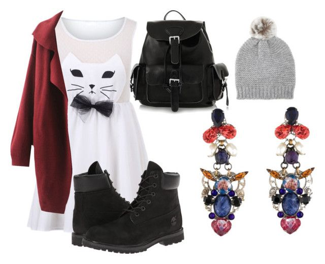 """""""Untitled #425"""" by lucycouture17 ❤ liked on Polyvore featuring Timberland, Forever 21 and Erickson Beamon"""